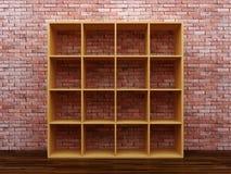 Пустые книжные полки Стоковое фото RF