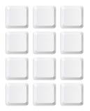Пустые кнопки клавиатуры Стоковые Фото