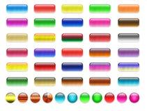 пустые кнопки gel сеть Стоковое Изображение RF