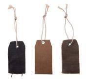 пустые кожаные бирки Стоковая Фотография RF