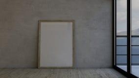 Пустые комната и картинная рамка Стоковое Фото
