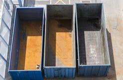 Пустые контейнеры для перевозок Стоковое Изображение RF