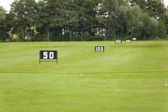 Пустые корзины шара для игры в гольф на тренировочная площадка Стоковые Фото