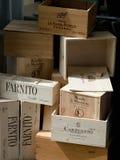 Пустые коробки от вина Стоковые Фотографии RF
