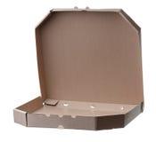 Пустые коробки пиццы изолированные на белой предпосылке Стоковая Фотография RF