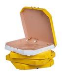 Пустые коробки пиццы изолированные на белой предпосылке Стоковое Фото