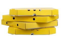 Пустые коробки пиццы изолированные на белой предпосылке Стоковое Изображение
