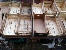 Пустые коробки для плодоовощей Стоковое Изображение