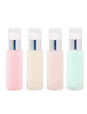 Пустые косметические стеклянные бутылки с насосом Стоковое Изображение RF