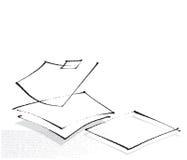 пустые листы бумаги иконы Стоковые Фотографии RF