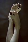 пустые мертвые люди ноги маркируют 2 Стоковые Изображения