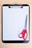 пустые ножницы clipboard стоковые фотографии rf