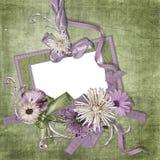 пустые обои сбора винограда изображения рамки Стоковые Изображения RF