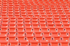 Пустые оранжевые места на стадионе Стоковая Фотография