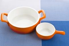 Пустые оранжевые установленные шары Стоковые Изображения RF