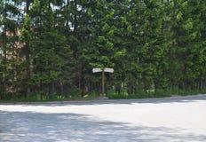 пустые дорожные знаки Стоковое фото RF