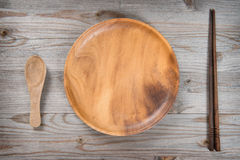 Пустые палочки плиты и суш Стоковое Фото