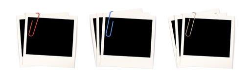 Пустые печати фото с paperclips Стоковые Фотографии RF