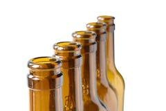 Пустые пивные бутылки лагера Стоковая Фотография RF