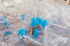 Пустые пластичные бутылки воды Стоковые Фотографии RF