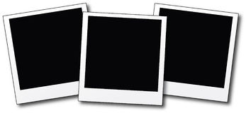 пустые поляроиды Стоковое Изображение RF