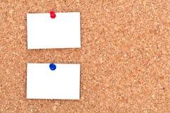 пустые примечания бюллетеня доски Стоковое фото RF