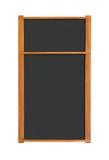 пустые разделы 2 меню выреза chalkboard Стоковое Изображение