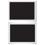 Пустые рамки фото с тенью на заднем векторе Стоковые Изображения RF