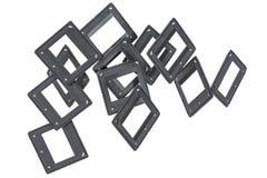 Пустые рамки фото для фильма реверсирования Стоковые Изображения RF