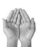 пустые руки Стоковая Фотография