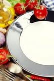 пустые свежие овощи текста плиты ваши Стоковые Изображения