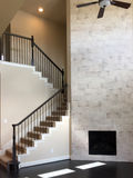 Пустые семейный номер и лестницы нового дома Стоковая Фотография RF