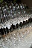 Пустые стекла шампанского стоковое фото rf