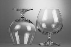 Пустые стекла вискиа Стоковое Фото