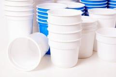 Пустые стекла пластмассы еды Стоковые Изображения RF
