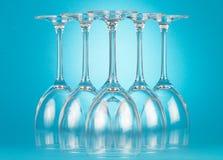 Пустые стекла шампанского Стоковое Изображение RF