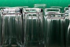 Пустые стекла для воды Стоковое фото RF