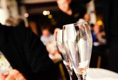 Пустые стекла для розового вина Стоковая Фотография