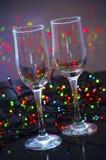 Пустые стеклянные стекла шампанского Стоковые Фото