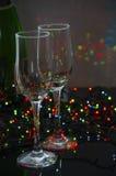 Пустые стеклянные стекла шампанского Стоковое Изображение RF
