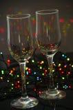 Пустые стеклянные стекла шампанского Стоковая Фотография RF