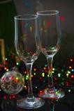 Пустые стеклянные стекла шампанского Стоковая Фотография