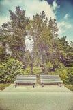 Пустые стенды в парке Стоковые Фотографии RF
