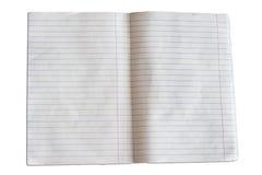 Пустые страницы тетради Стоковое Фото