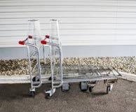 Пустые тележки для больших приобретений Стоковое Изображение RF