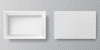 Пустые упаковывая коробки - открытые и закрытые иллюстрация вектора