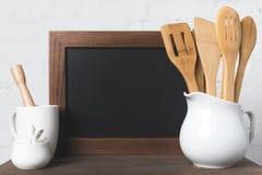 Пустые утвари доски и кухни Стоковая Фотография