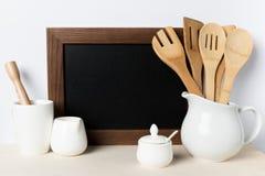 Пустые утвари доски и кухни Стоковое Фото