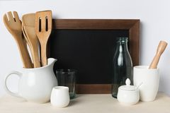 Пустые утвари доски и кухни Стоковое фото RF
