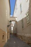 Пустые улица и здания в Праге Стоковое Изображение